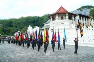 official flags of Sri Lanka Army were blessed at the Sacred Tooth Relic